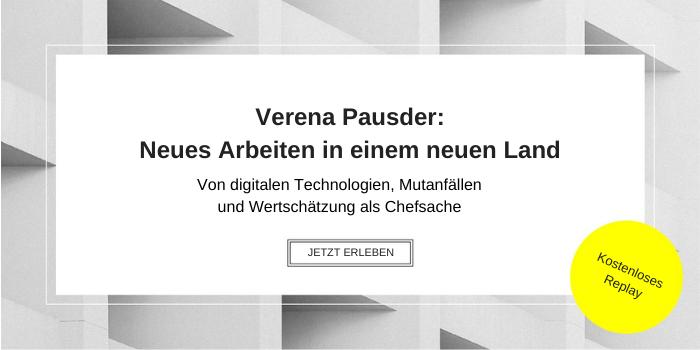 Verena Pausder: Neues Arbeiten in einem neuen Land